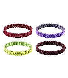 Set of 4 Metal Bangles