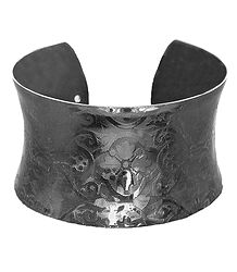 Carved Metal Cuff Bracelet