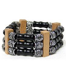 Wooden Beads Stretch Bracelet