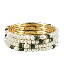 Faux Pearl Bead Bangles