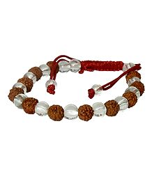 Rudraksha with Acrylic Beads Bracelet