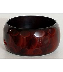 Rust and Black Lacquered wooden Bracelet