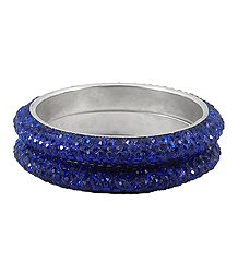 A Pair of Blue Stone Studded Bangles