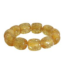 Yellow Beaded Stretch Bracelet