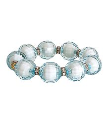 Light Blue Bead Stretch Bracelet