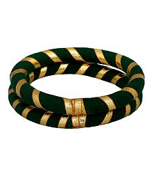 Pair of Green Thread Bangles