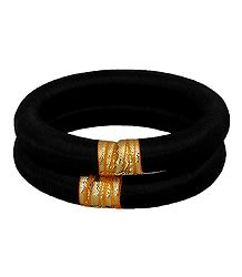 Pair of Black Thread Bangles