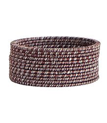 Brown with White Thread Bangles