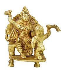 Brass Bagalamukhi Statue