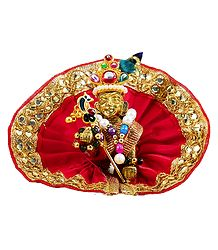 Bal Gopala with Red Dress