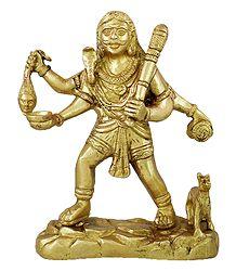 Brass Bhairav Statue