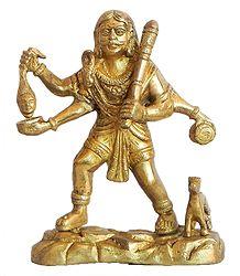 Bhairav - Brass Statue