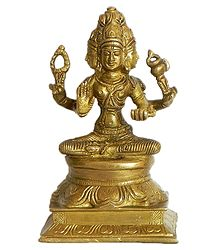 Four Faced Brahma - Brass Statue