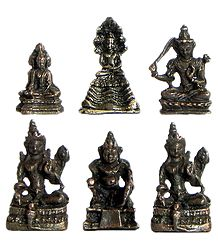 Set of 6 Buddhist Deities