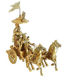 Arjuna's Chariot with Hanuman on Top