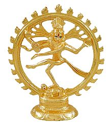 Gold Plated Nataraja Statue