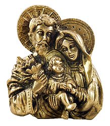 Buy Joseph, Mary with Jesus - Brass Sculpture