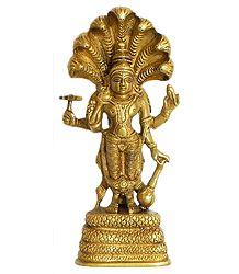 Lord Vishnu - Brass Statue