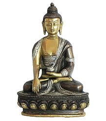 Medicine Buddha - Brass with Copper Statue