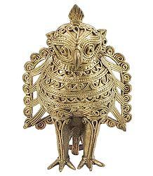 Buy Online Dhokra Owl Decoration Piece
