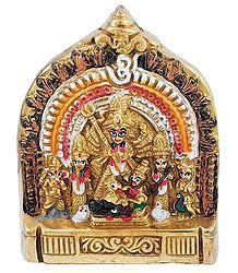 Durga Slaying Mahishasura