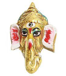 Brass Ganesha Face