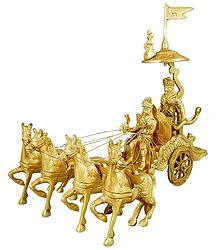 Shop Online Krishna and Arjuna on Chariot