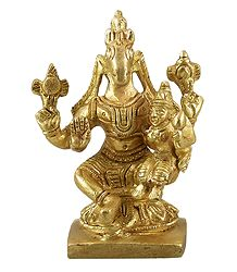Hayagriva with Lakshmi - Brass Statue