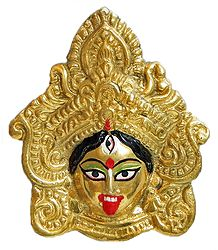 Buy Small Brass Kali Face Wall Hanging