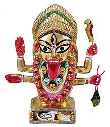 Kalighat Kali - Brass Statue