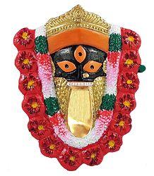 Face of Kalighat Kali - Wall Hanging