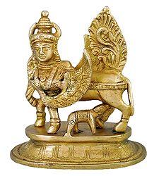 Kamadhenu - Brass Statue