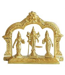 Kartikeya with His Two Wives, Devasena and Valli