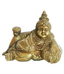 Kubera Brass Statue