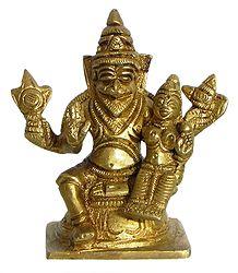 Narasimha Avatar with Lakshmi on His Lap - Incarnation of Vishnu