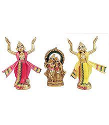 Gaur Nitai Singing Praises of Radha Krishna