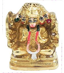 Panchamukhi Hanuman - Brass Statue
