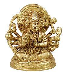 Brass Panchamukhi Hanuman Statue