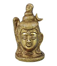 Buy Face of Lord Shiva - Brass Statue