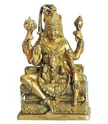 Ardhanarishvara with Ganesha on Lap