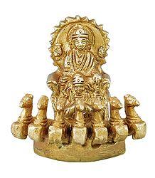 Sun God on Chariot - Brass Statue