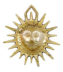 Face of Sun God