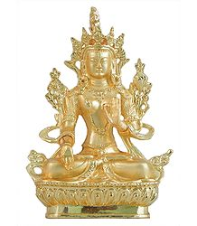 Gold Plated Tara - Brass Statue