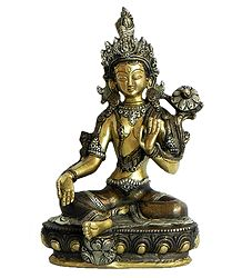 Buy Green Tara - Brass with Copper