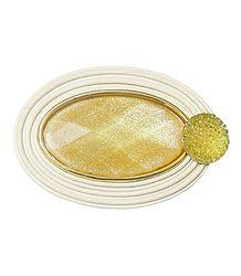 Acrylic Oval Brooch