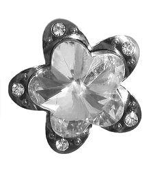 Stone Studded Flower Brooch