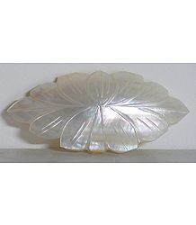 White Mother of Pearl Lotus Shaped Brooch