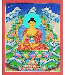 Shakyamuni Buddha - Thangka Painting