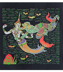 Hanuman with Sovanna Maccha, The Mermaid Princess