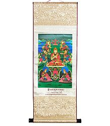JE Tsongkapa with his Chief Disciples Gyaltsab Je and Khedrup Je - Wall Hanging